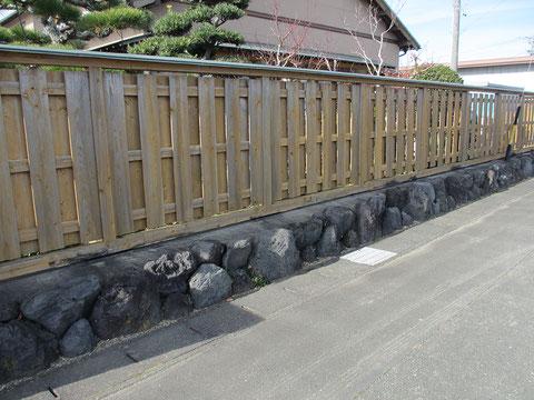 静岡県袋井市M邸塀・施工前の画像
