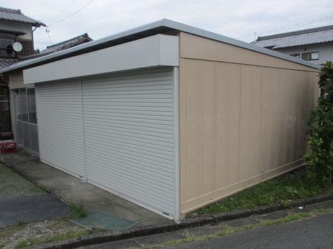 静岡県森町G店倉庫・施行後の画像