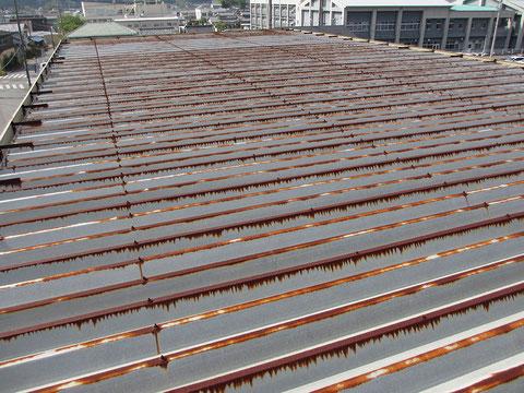 静岡県森町A工場屋根・施工前の画像