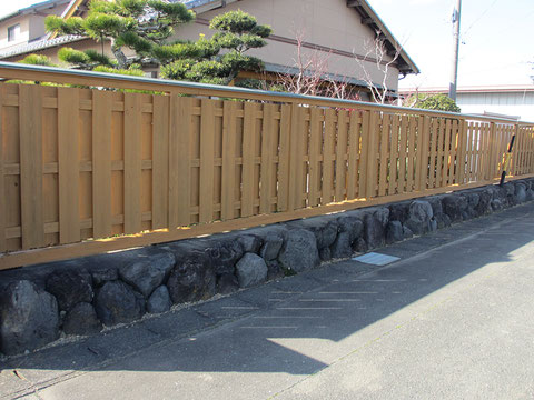 静岡県袋井市M邸塀・施工後の画像