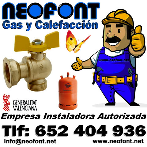 Instalador autorizado de gas natural Alicante