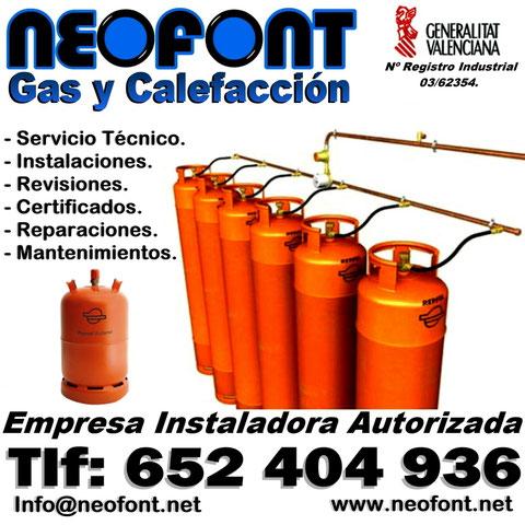 Empresa instaladora de gas Alicante