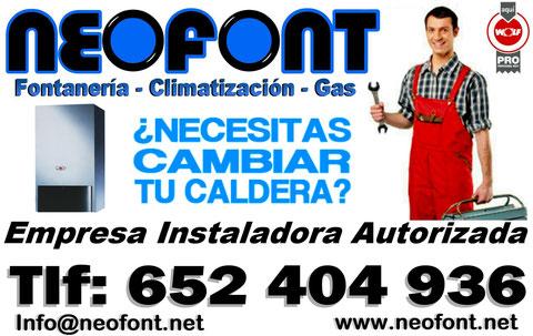 Cambiar caldera en Alicante Alcoy Ibi Xixona Villena Elda Petrer Onil