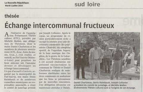 Notre visite au Fief-Sauvin du 14 juin 2014