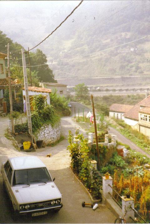 Desde la ventana de casa de la tia de mi mujer,en Sovilla,Sta Cruz de Mieres.