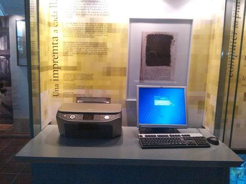 Aqui la inpresion moderna,con ordenador he impresora.