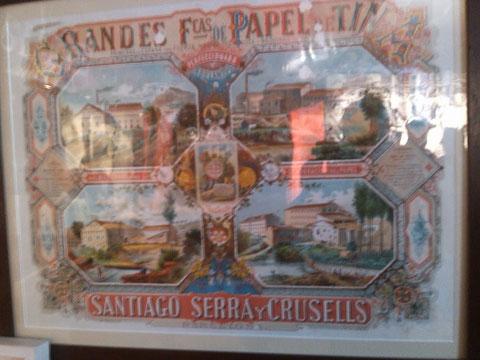 Una de las primeras fabricas de aqui en Capellades....que mandaba el papel a la Habana.