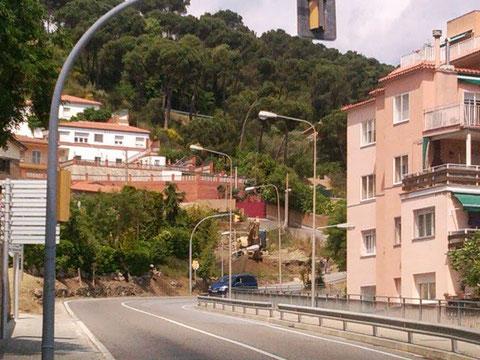 Otra vista de la carretera.