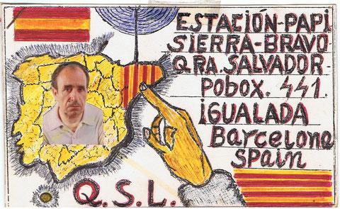 Esta es para mi la de un buen radioaficionado,las horas que se paso modulando por las noches,aqui en Cataluña no habia radioaficionado que no hubiera echo una bigotada con el,y aparte de esto fue mi suegro,y mi gran amigo....