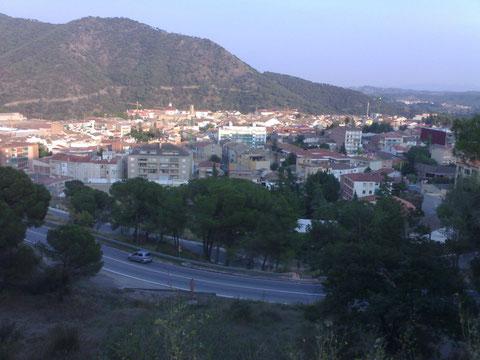 Una vista del pueblo desde al lado de mi casa.
