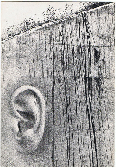 Cuando era radioescucha,mandaba esta QSL,.....que mejor que una oreja que escucha.