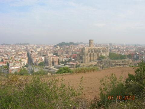 Una vista de Manresa,con la Iglesia de San Ignacio.