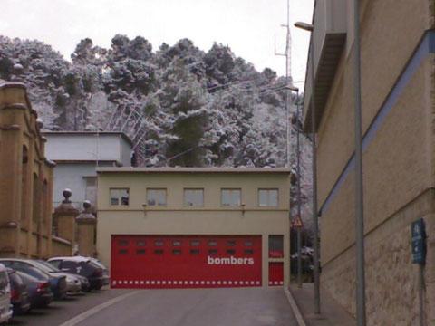 El parque de bomberos y la calle donde vivo.