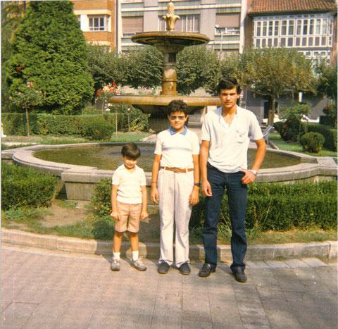 Mis tres hijos en Pola de Lena.