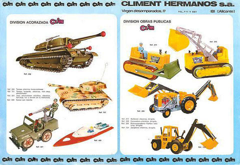 Catálogo de juguetes Clim (Climent Hermanos).