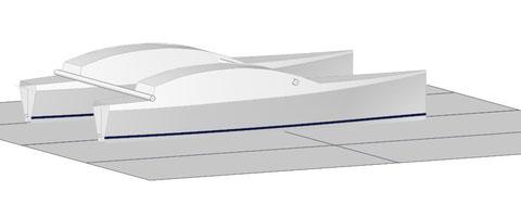 CATAMARAN 8m contreplaqué époxy - projet