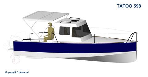 Tatoo 598 - projet de construction E.Riva - Italy