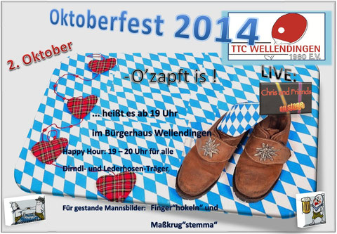 Oktoberfest mit Chris and Friends LIVE
