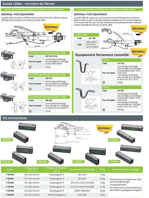 commande de frein alko accessoires montage semelle en V