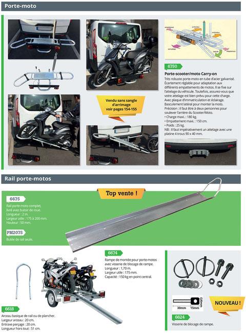 rail porte moto et scooter, porte-moto