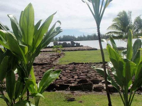 Marae à Huahine