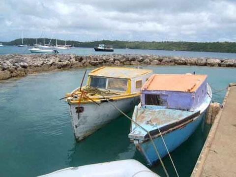 bateaux de pêche à Neiafu