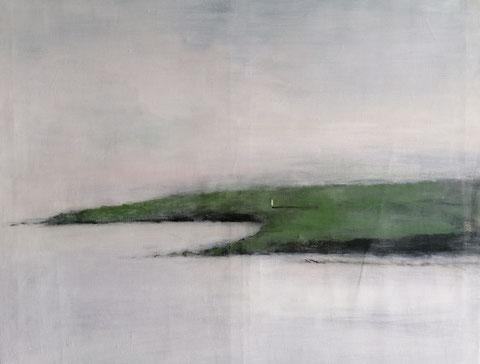 Und jeden Morgen ans Meer, Vera Loos 2020, Acryl auf Leinwand, 93x93 cm Preis: 1.500 €