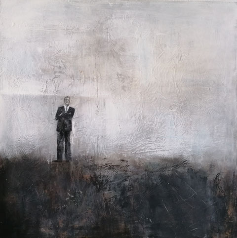 The tempest, Vera Loos 2020, Mischtechnik, 80x80 Preis: 1.200 €