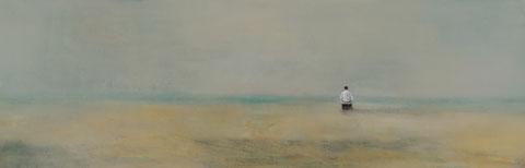 Beam me up, Scotty, Vera Loos 2020, Acryl auf Leinwand, 120x 40 cm, Preis: 900 €