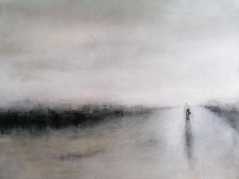 Die Heimkehr des Odysseus, Vera Loos 2018, Acryl auf Leinwand, 120x100 cm, Preis: 1.800 €