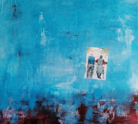 Summertime and the living is easy, Vera Loos 2019, Acryl auf Leinwand, 87x83 cm,  Preis: 1.500 €