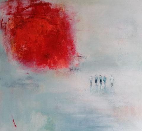 Al gran sole carico d'amore (Luigi Nono), Vera Loos 2020, Acryl auf Leinwand, 100x 93 cm, Preis: 1.500 €