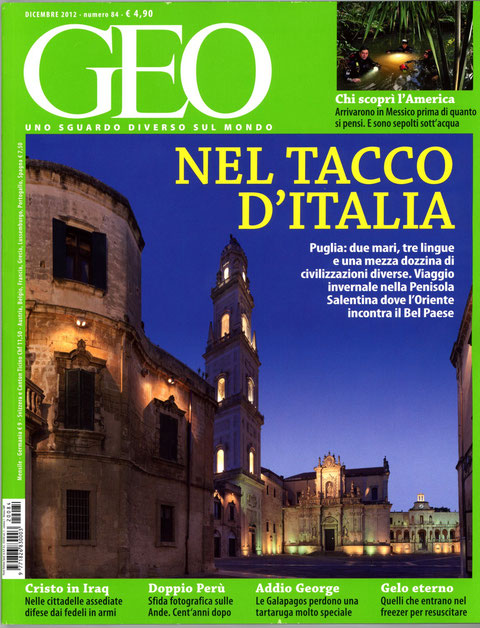 copertina GEO dicembre 2012 con all'interno la foto premiata