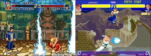 SNK et Capcom refondent leurs sagas à succès Fatal Fury st Street Fighter en 95.