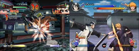 Naruto et Bleach envahissent les consoles de salon.