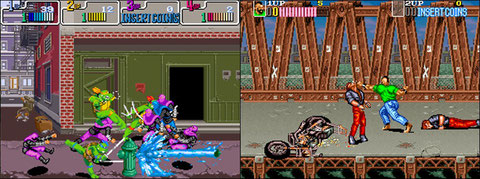 Tortues Ninja Arcade et Crime Fighters 2