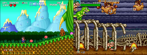 Blue's Journey VS Caveman Ninja US - Neo Geo, Arcade & Retro