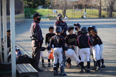 2021年3月14日天屋 神奈川区少年野球 練習試合 ビーバーズ対三ッ沢ライオンズ