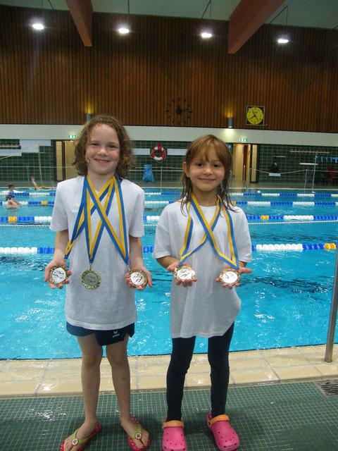 Die erfolgreichen Medaillensammlerinnen