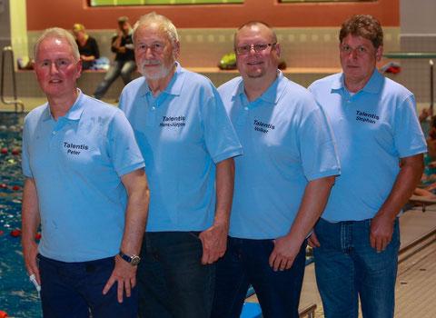 Der Vorstand (v.l.): Peter Unger, Hans-Jürgen Wolff, Volker Vogelsang, Stephan Blome