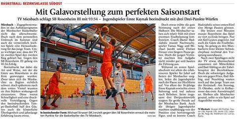 Artikel im Miesbacher Merkur am 20.10.2015 - Zum Vergrößern Klicken