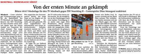 Artikel im Miesbacher Merkur am 17.11.2015 - Zum Vergrößern klicken