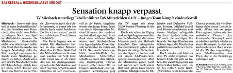 Artikel im Miesbacher Merkur am 15.12.2015 - Zum Vergrößern klicken