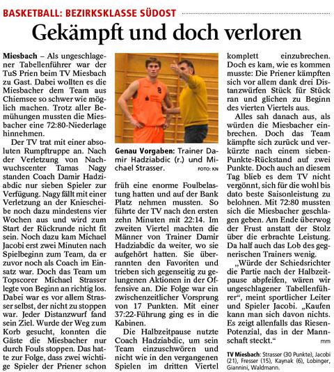 Bericht im Miesbacher Merkur am 23.12.2015 - Zum Vergrößern klicken