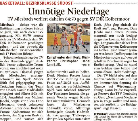 Bericht im Miesbacher Merkur am 23.2.2016 - Zum Vergrößern klicken