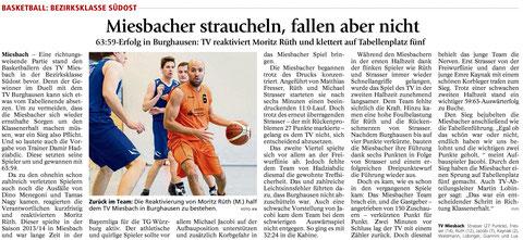 Bericht im Miesbacher Merkur am 19.1.2016 - Zum Vergrößern klicken