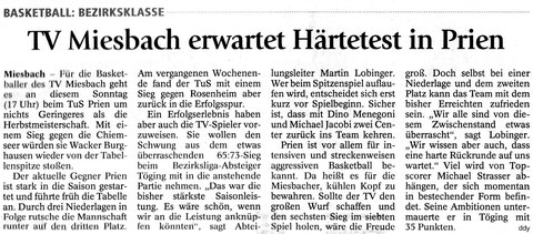 Artikel im Miesbacher Merkur am 13.12.2014 - Zum Vergrößern Klicken