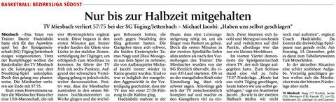 Bericht im Miesbacher Merkur am 24.11.2015 - Zum Vergrößern klicken