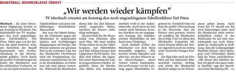 Artikel im Miesbacher Merkur am 19.12.2015 - Zum Vergrößern klicken