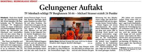 Artikel im Miesbacher Merkur am 6.10.2015 - Zum Vergrößern Klicken
